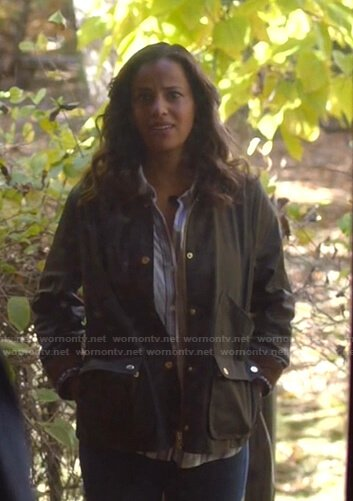 Grace's brown utility jacket on Manifest