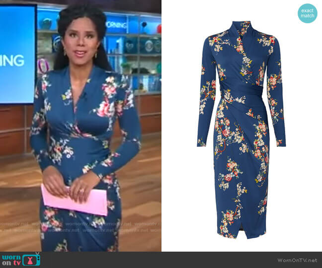 Great Jones Long Sleeve Floral Sheath worn by Adriana Diaz  on CBS This Morning