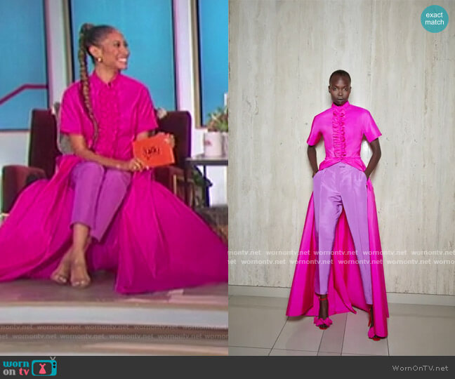 2021 Spring Collection by Greta Constantine worn by Elaine Welteroth  on The Talk
