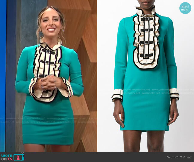 Ruffled Bib Mini Dress by Gucci worn by Lilliana Vazquez  on E! News