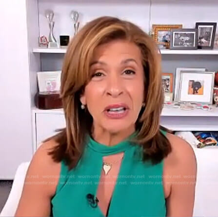 Hoda's green keyhole jumpsuit on Today