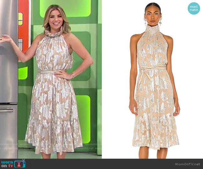 IRO Laza Dress worn by Amber Lancaster  on The Price is Right