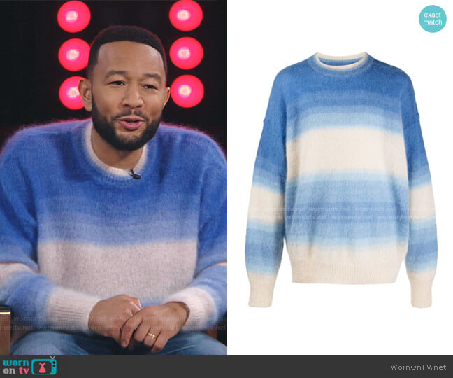 Drussellh Ombre Stripe Sweater by Isabel Marant worn by John Legend on The Voice