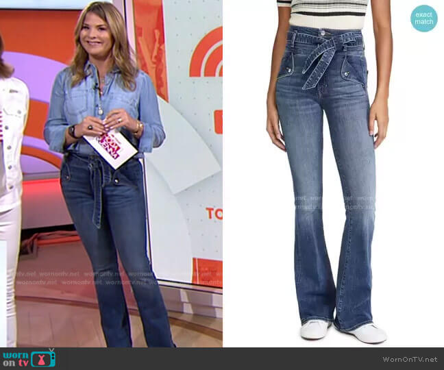 Giselle High-Rise Skinny Flare Jean by Veronica Beard worn by Jenna Bush Hager  on Today