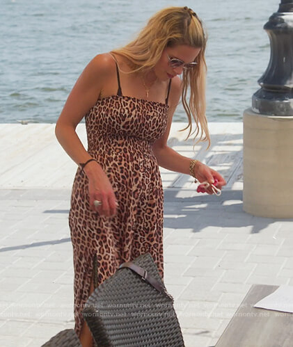 Jackie's leopard print jumpsuit on The Real Housewives of New Jersey
