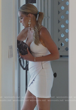 Jackie's white mini dress on The Real Housewives of New Jersey