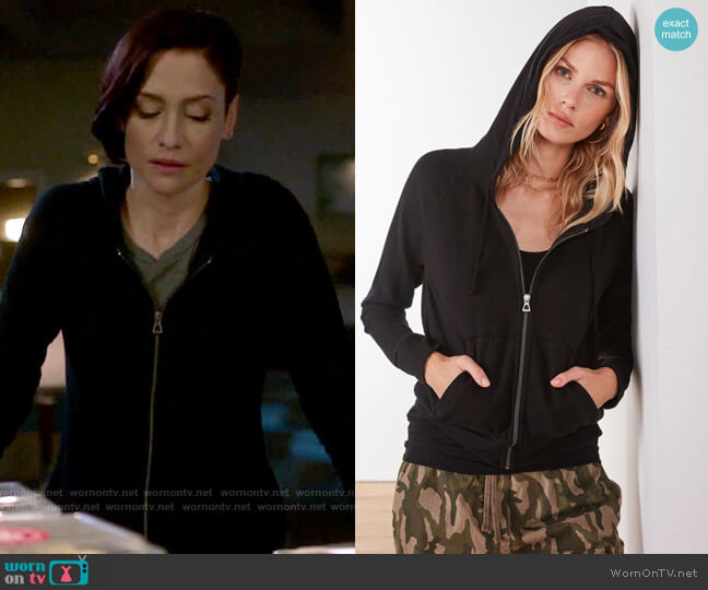 James Perse Vintage Fleece Hoodie worn by Alex Danvers (Chyler Leigh) on Supergirl