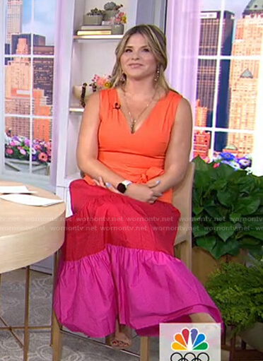 Jenna's colorblock maxi dress on Today