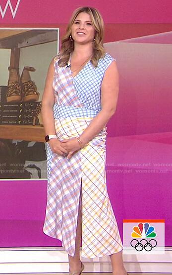 Jenna's mixed plaid dress on Today