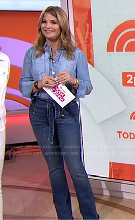 Jenna's tie waist jeans on Today