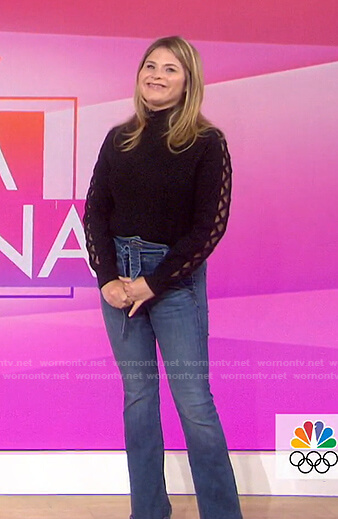 Jenna's tie waist jeans on Today