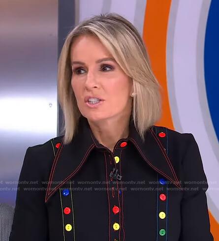 Jennifer's black button-embellished shirt on Good Morning America