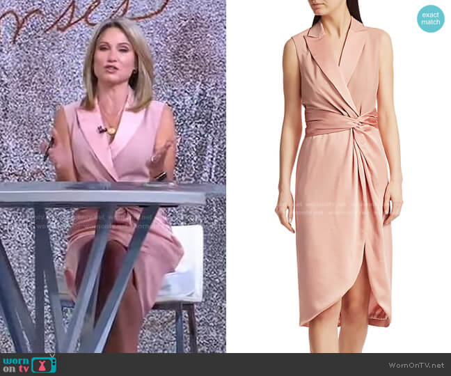 Luxe Combo Twist Blazer Dress by Jonathan Simkhai worn by Amy Robach  on Good Morning America