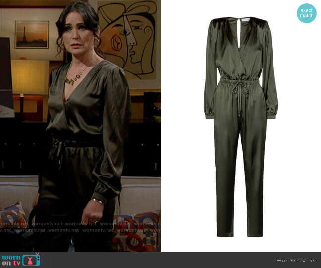 Jonathan Simkhai Zyana Jumpsuit worn by Quinn Fuller (Rena Sofer) on The Bold & the Beautiful