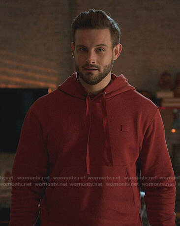 Josh's red hoodie on Younger