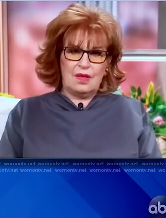 Joy's gray cowl neck blouse on The View