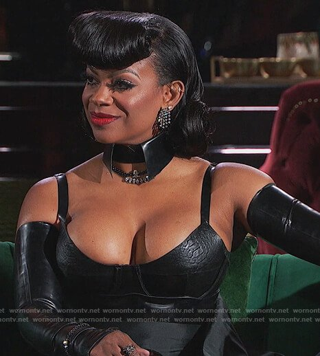 Kandi's leather reunion bodysuit on The Real Housewives of Atlanta