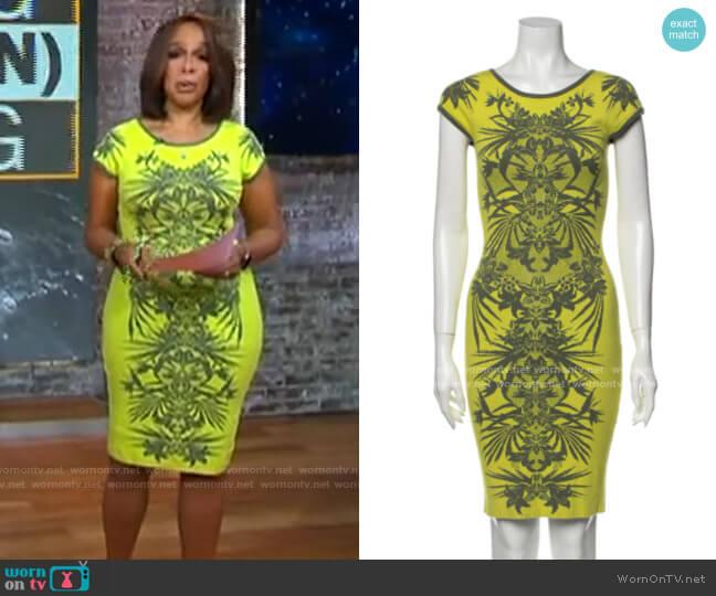 Karen Millen Printed Dress worn by Gayle King  on CBS This Morning