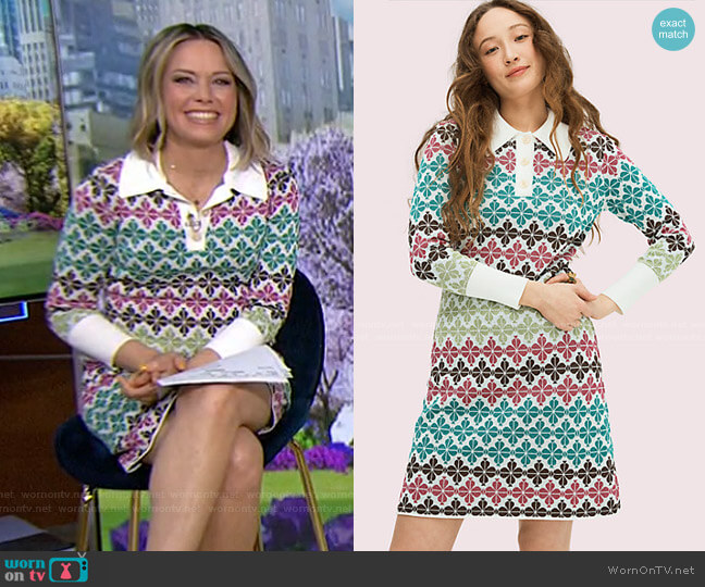 Spade Flower Sweater Dress by Kate Spade worn by Dylan Dreyer  on Today