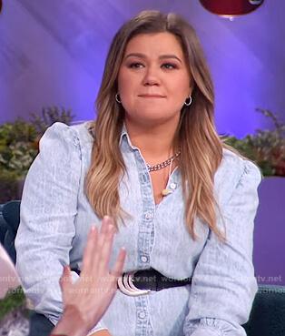 Kelly's denim shirtdress on The Kelly Clarkson Show