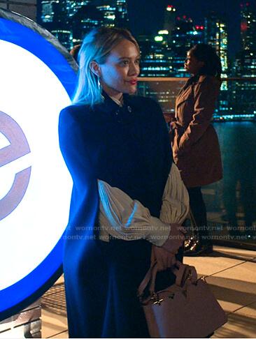 Kelsey's black cape coat on Younger