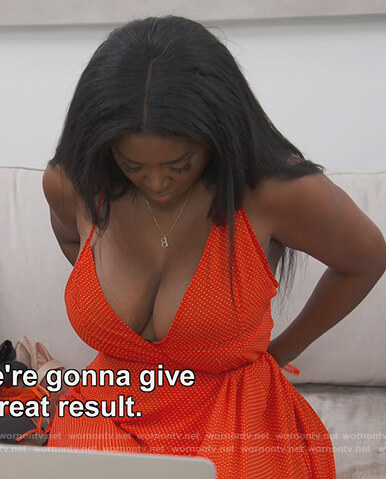 Kenya's red polka dot dress on The Real Housewives of Atlanta