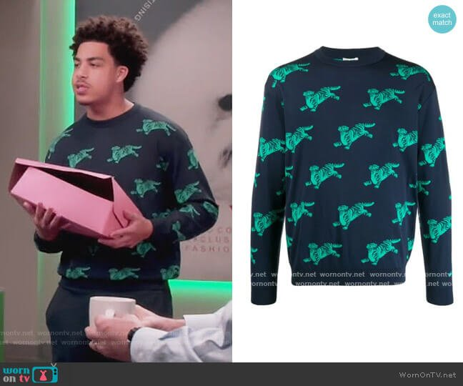Tiger Motif Sweatshirt by Kenzo worn by Andre Johnson (Anthony Anderson) on Blackish