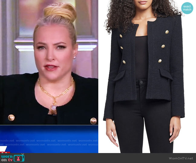 Effie Jacket by L'Agence worn by Meghan McCain  on The View