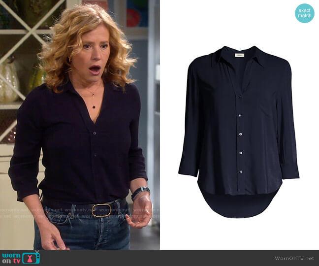 L'Agence Ryan Shirt worn by Vanessa Baxter (Nancy Travis) on Last Man Standing