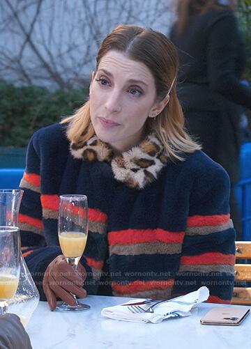 Lauren's Striped fur coat on Younger