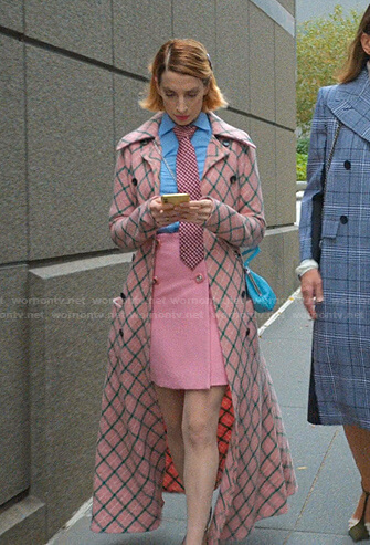 Lauren's pink checked coat on Younger