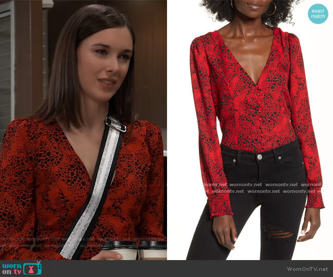 Button Front Blouse by Leith worn by Willow Tait (Katelyn MacMullen) on General Hospital