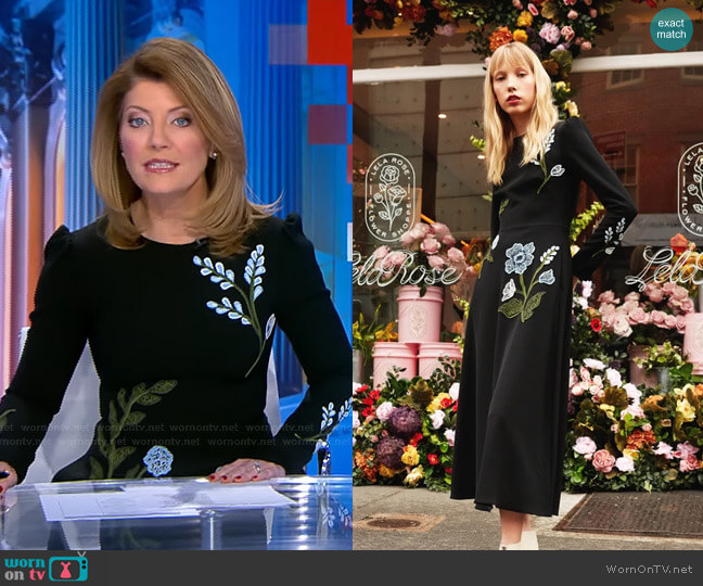 Fall 2020 Collection by Lela Rose worn by Norah O'Donnell  on CBS Evening News