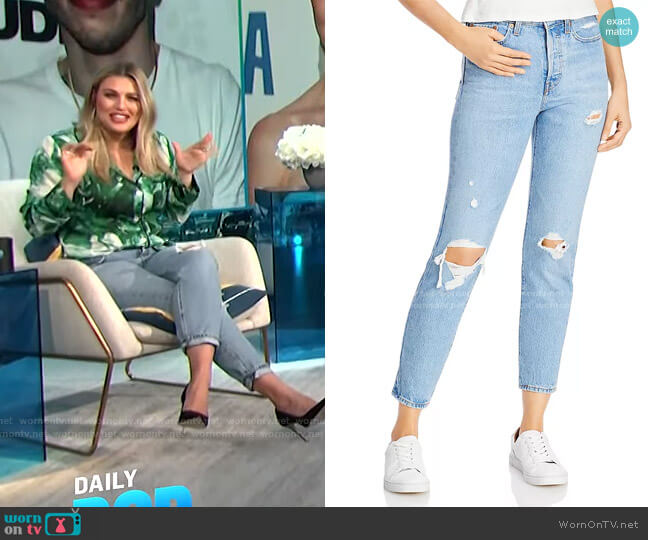 Wedgie Icon Ripped Slim Ankle Jeans by Levi's worn by Carissa Loethen Culiner  on E! News
