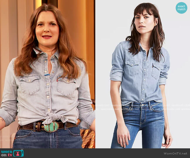 Ultimate Western Denim Shirt by Levis worn by Drew Barrymore  on The Drew Barrymore Show