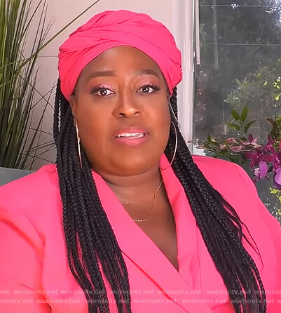 Loni's pink blazer on The Real