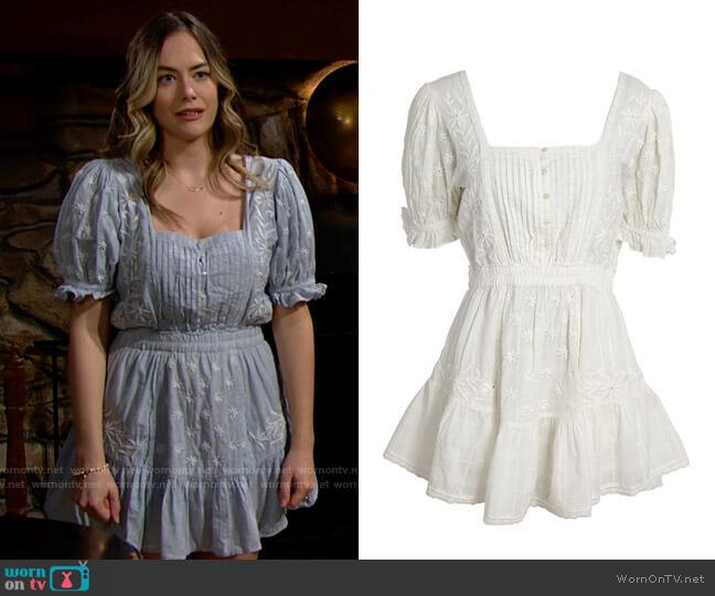 LoveShackFancy Tomasina Dress worn by Hope Logan (Annika Noelle) on The Bold & the Beautiful