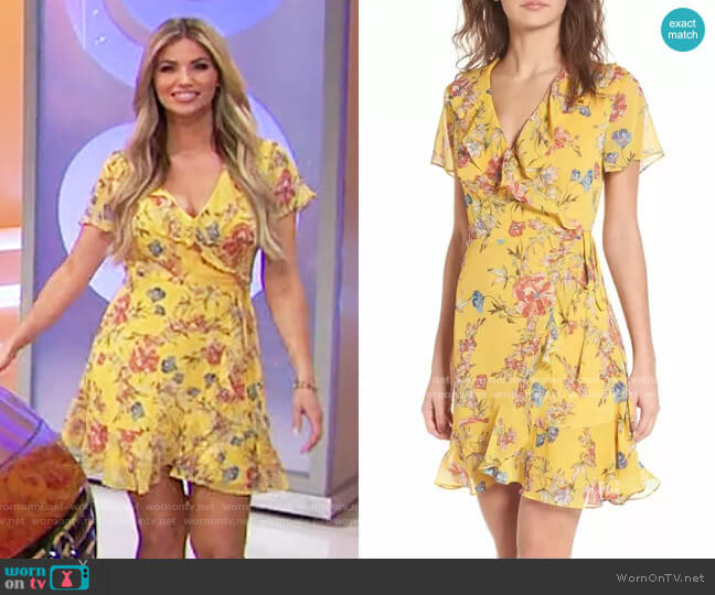 Lush Colie Ruffle Wrap Dress worn by Amber Lancaster  on The Price is Right