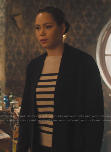 Macy's striped sweater and cardigan on Charmed