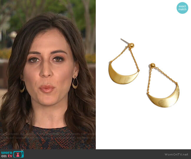 Acrobat Earrings by Madewell worn by Hallie Jackson on Today