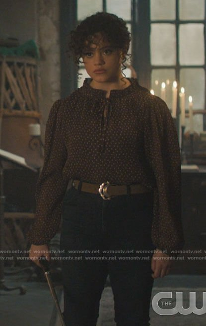 Maggie's brown dotted blouse on Charmed