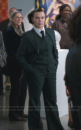 Maggie's green suit and vest on Younger
