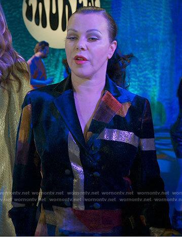 Maggie's velvet patchwork jacket on Younger