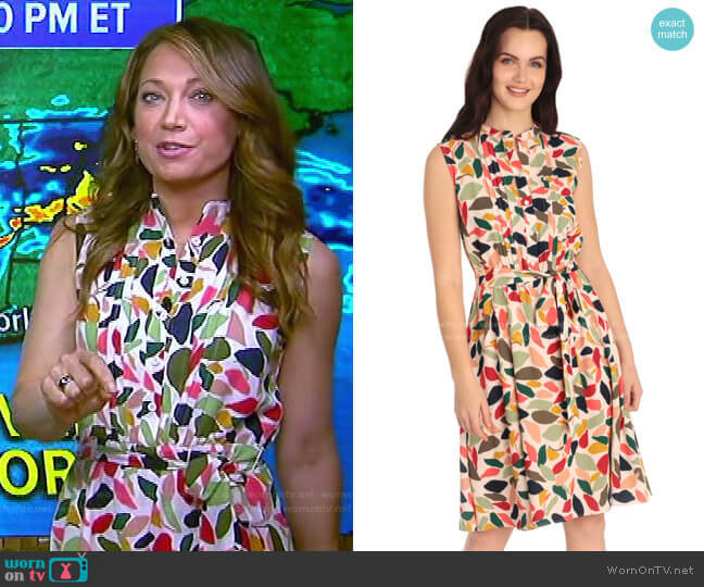 Mia Dress by Maggy London worn by Ginger Zee  on Good Morning America