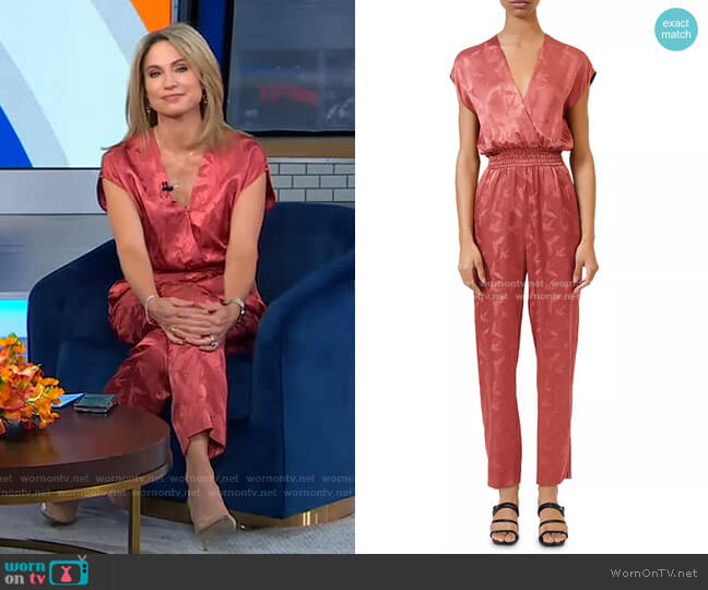 Pera Jumpsuit by Maje worn by Amy Robach  on Good Morning America