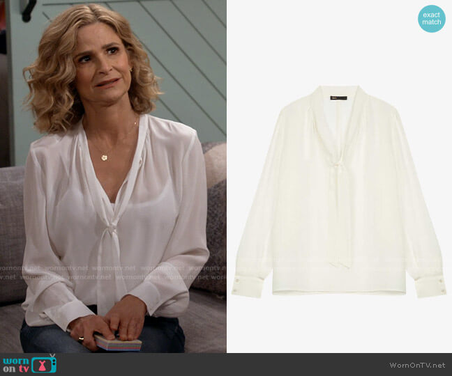 Maje Loie Top worn by Jean Raines (Kyra Sedgwick) on Call Your Mother