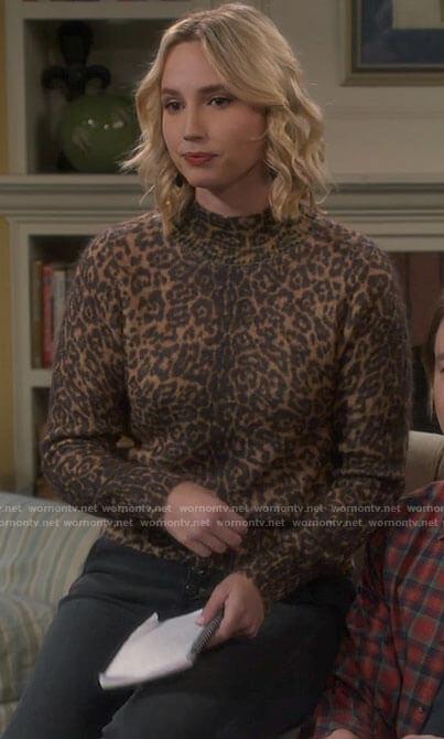 Mandy's leopard print sweater on Last Man Standing