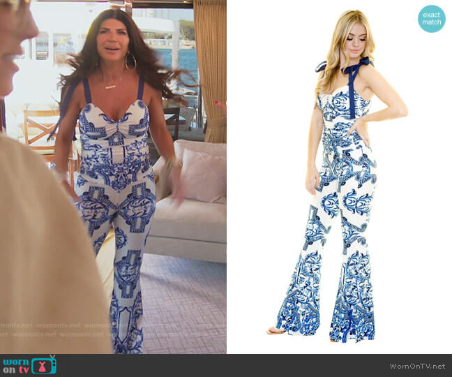 Santorini Tie Tank by Margaret Josephs worn by Teresa Giudice  on The Real Housewives of New Jersey