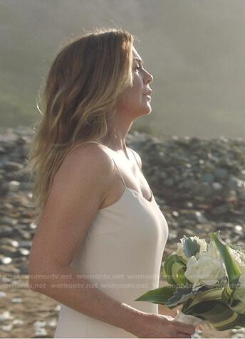 Meredith's wedding dress on Greys Anatomy