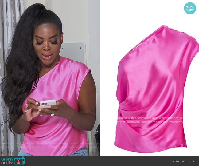 One Shoulder Top by Michelle Mason worn by Kenya Moore  on The Real Housewives of Atlanta